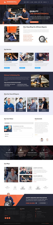 WorkshopPlus - Best Premium Automobile WordPress Theme
