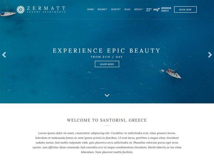 Zermatt - Next Generation Hotel WordPress Theme