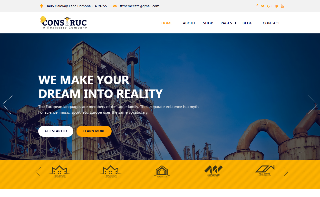 Construc WordPress Theme