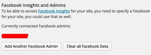 Get Facebook Insights for the WordPress Site.