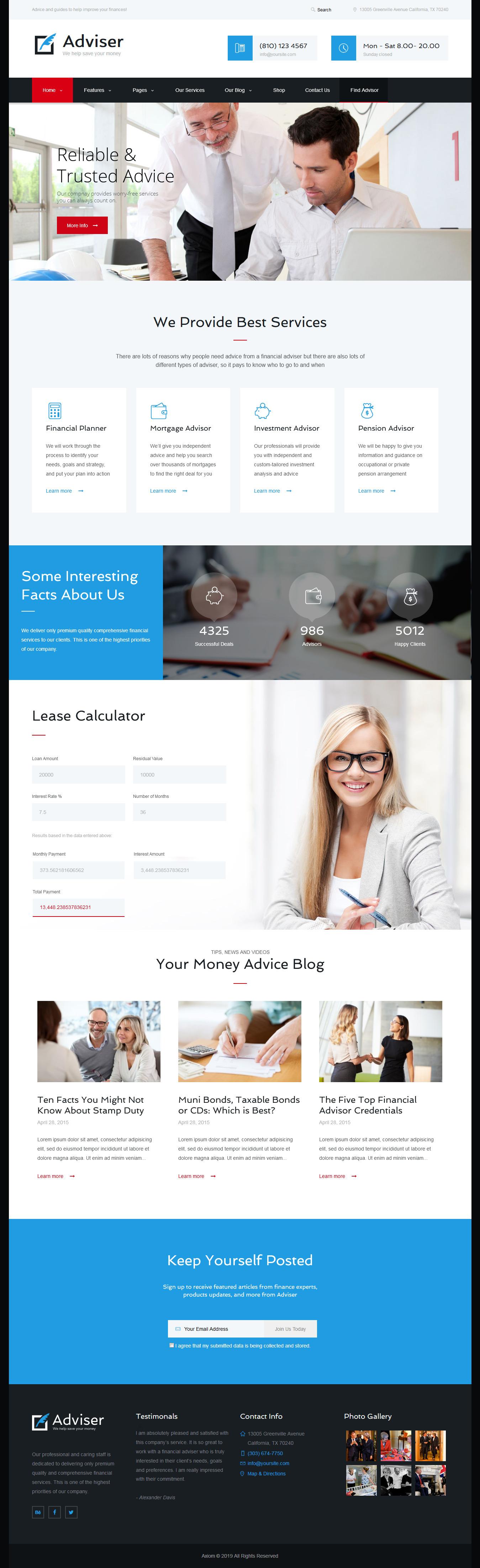 adviser best premium accounting wordpress theme - 10+ Best Premium Accounting WordPress Themes