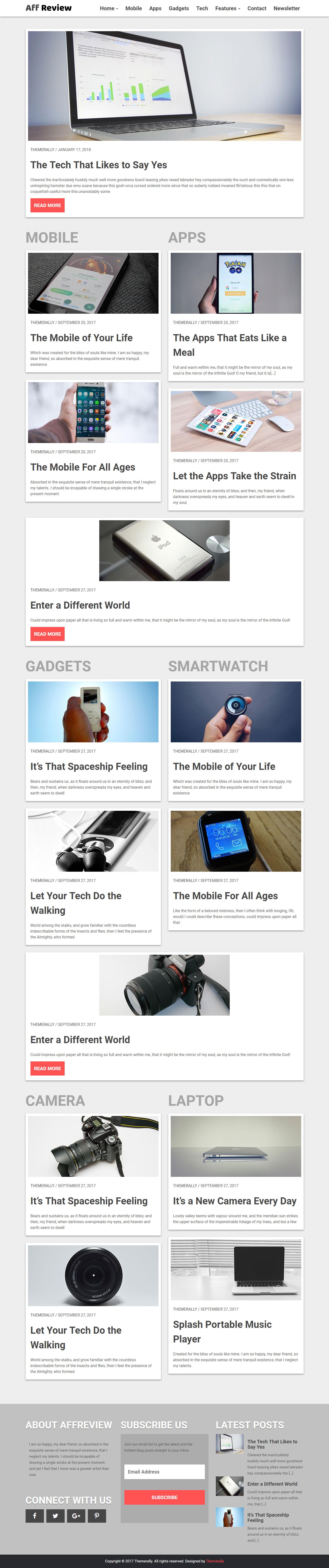 affreview best free review wordpress theme - 10+ Best Free Review WordPress Themes