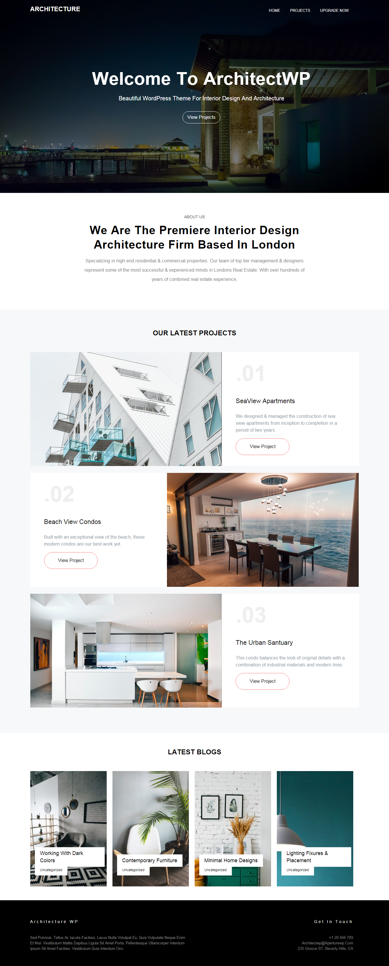 architecturewp best free home rental property wordpress theme - 10+ Best Free Home Rental and Property WordPress Themes