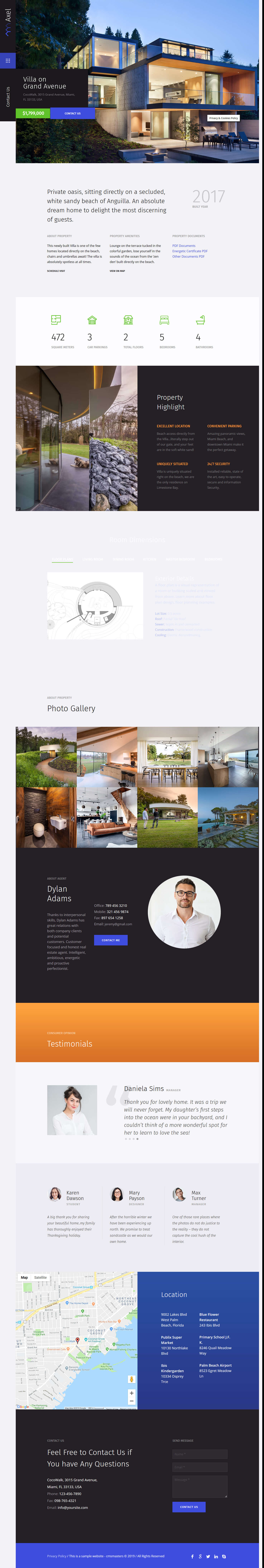 axel best premium home rental property wordpress theme - 10+ Best Premium Home Rental and Property WordPress Themes