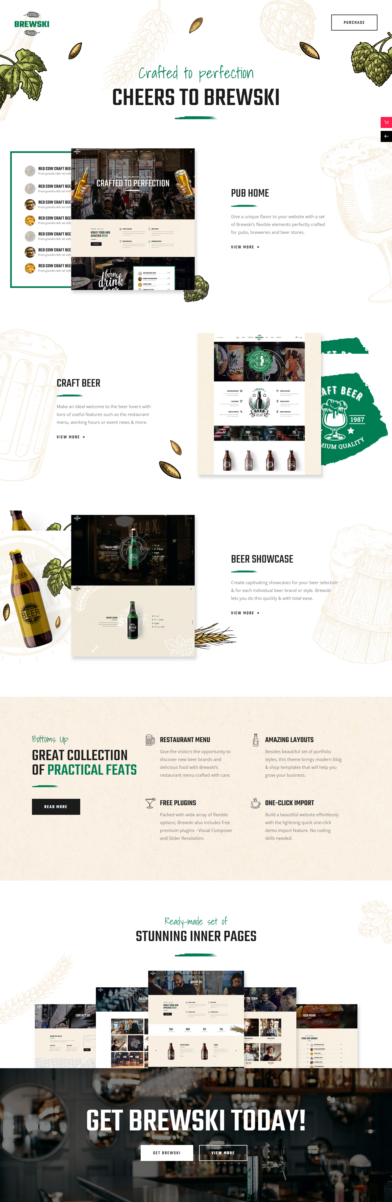 brewski best premium bar pub wordpress theme - 10+ Best Premium Bar and Pub WordPress Themes