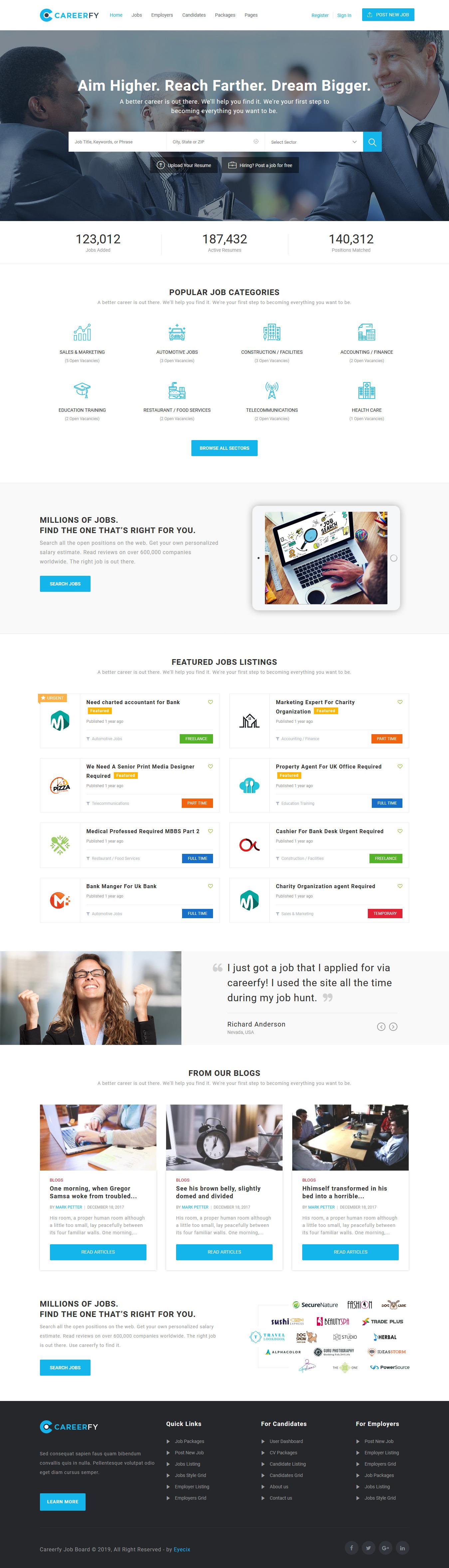 careerfy best premium job board wordpress theme 1 - 10+ Best Premium Job Board WordPress Themes