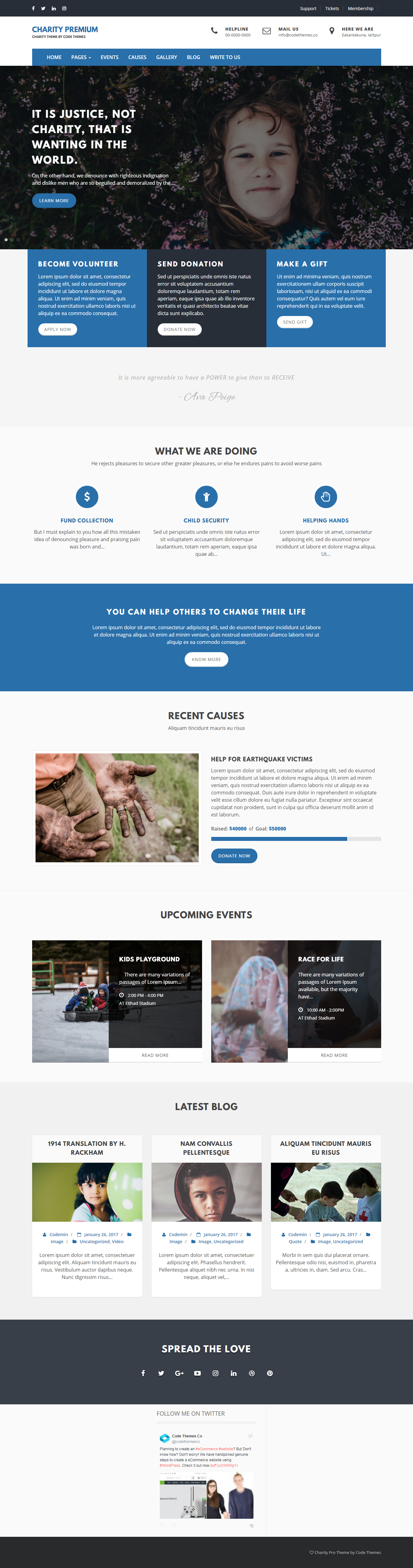 Charity Review - Best Free Review WordPress Theme