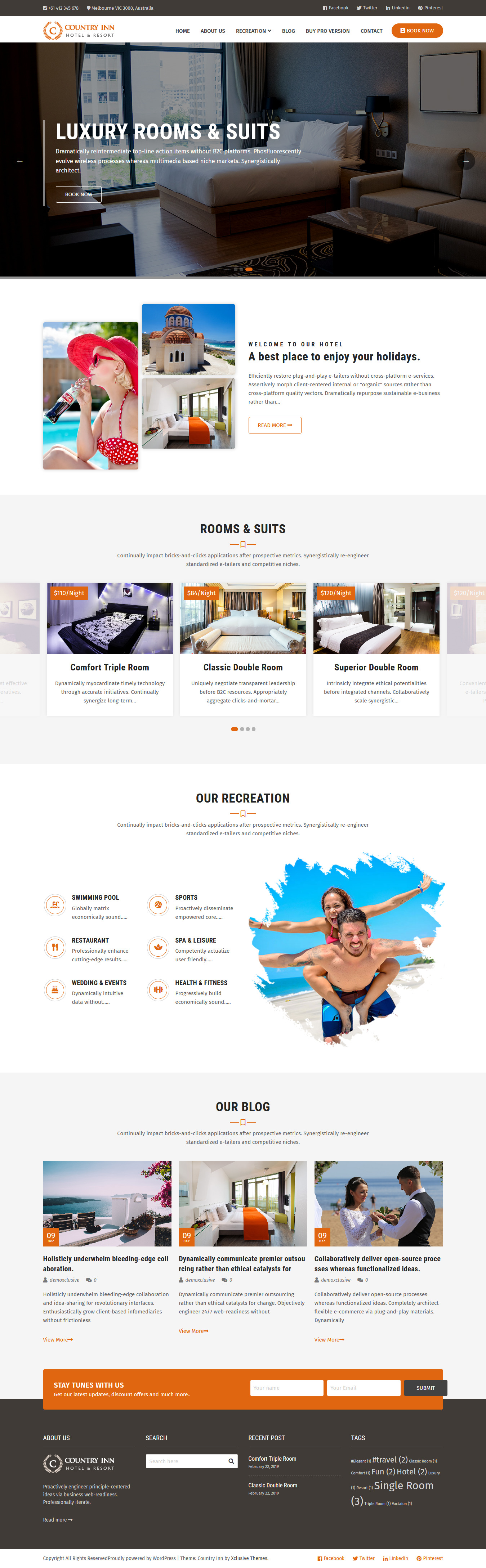 countryinn best free home rental property wordpress theme - 10+ Best Free Home Rental and Property WordPress Themes