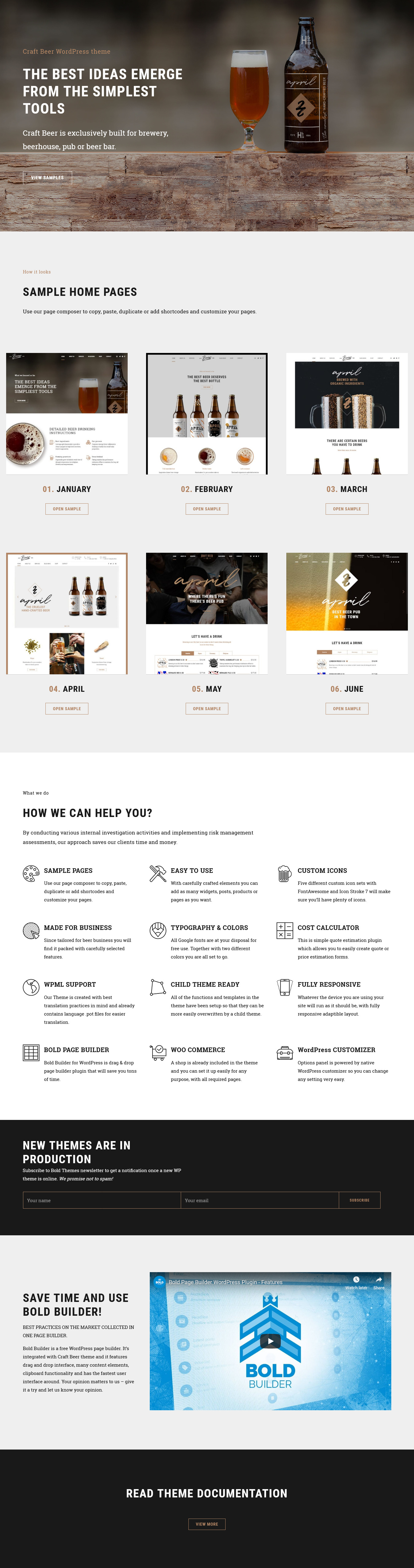 craft beer best premium bar pub wordpress theme - 10+ Best Premium Bar and Pub WordPress Themes
