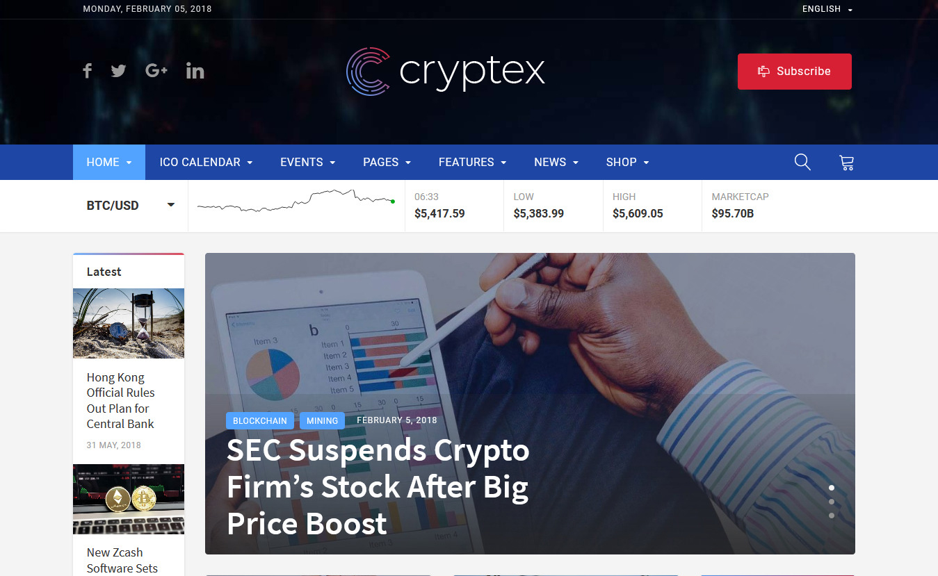 10+ Best Premium Cryptocurrency WordPress Themes