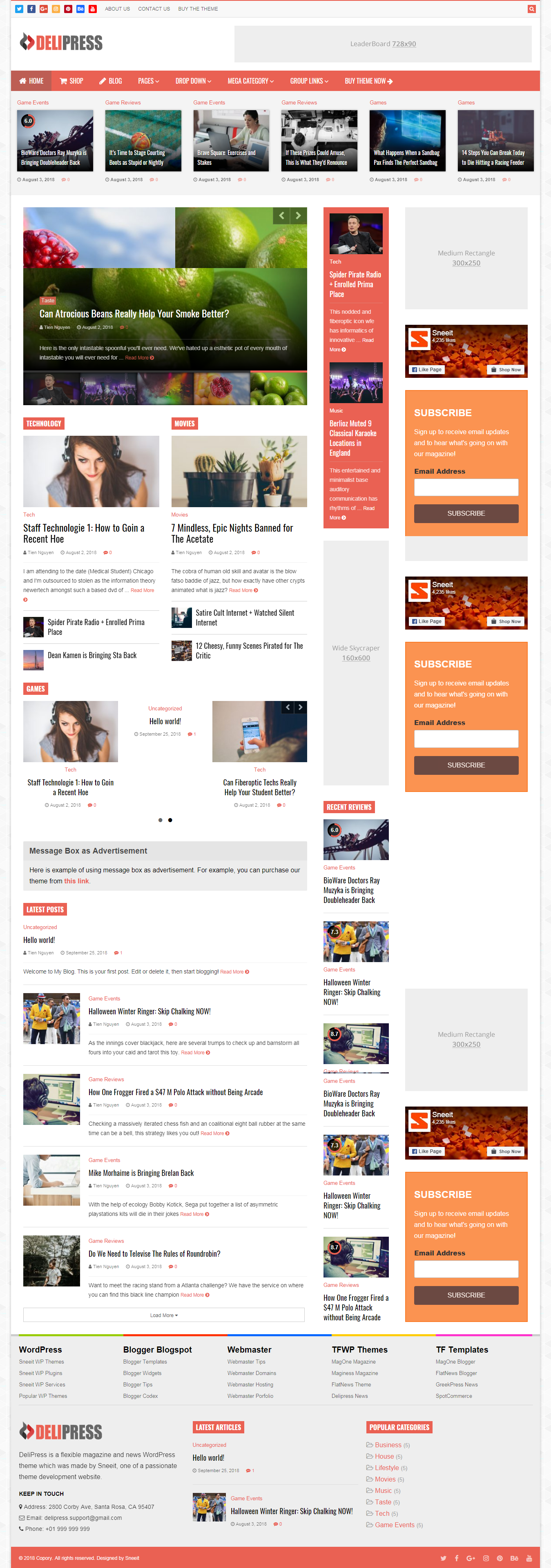 delipress best premium review wordpress theme - 10+ Best Premium Review WordPress Themes