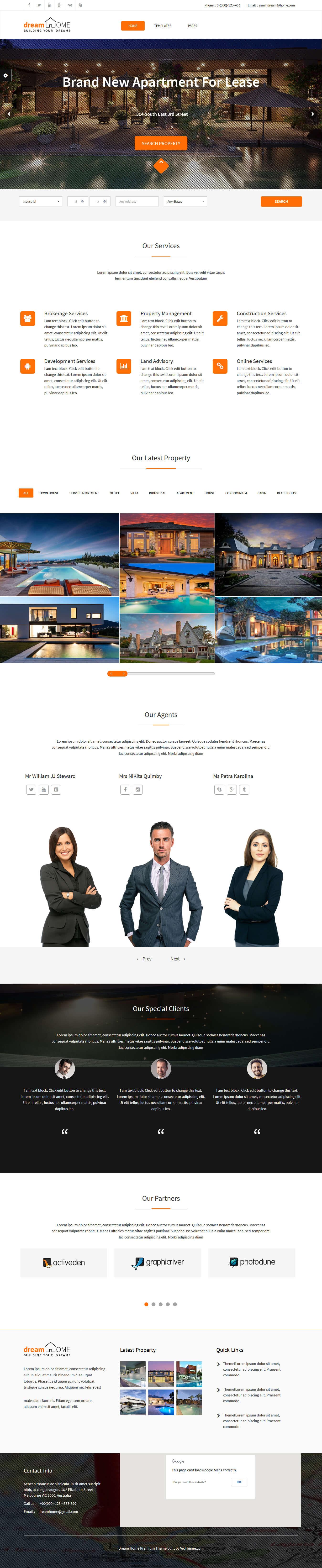dream home best premium home rental property wordpress theme - 10+ Best Premium Home Rental and Property WordPress Themes