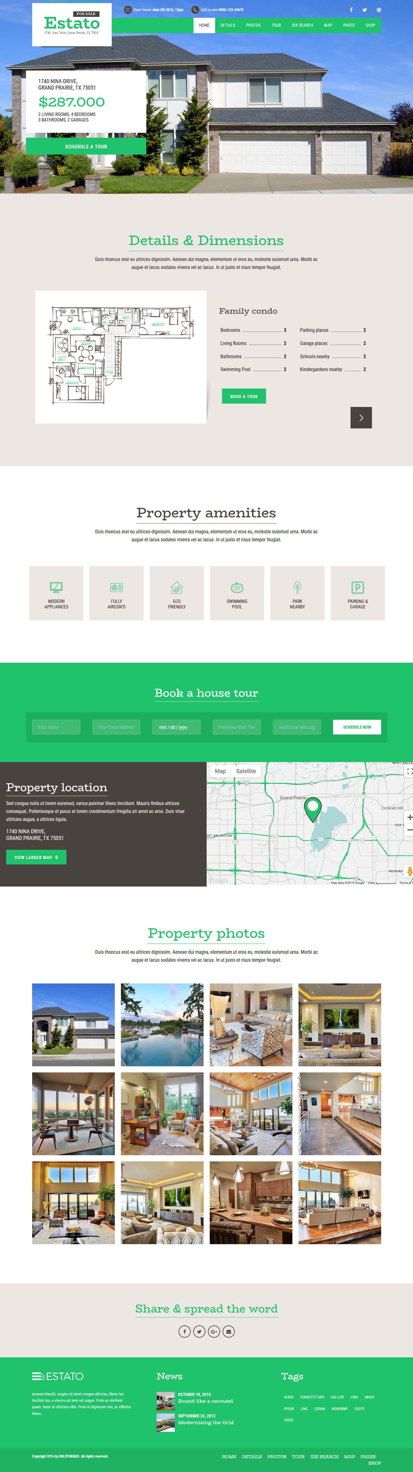 estato best premium home rental property wordpress theme - 10+ Best Premium Home Rental and Property WordPress Themes