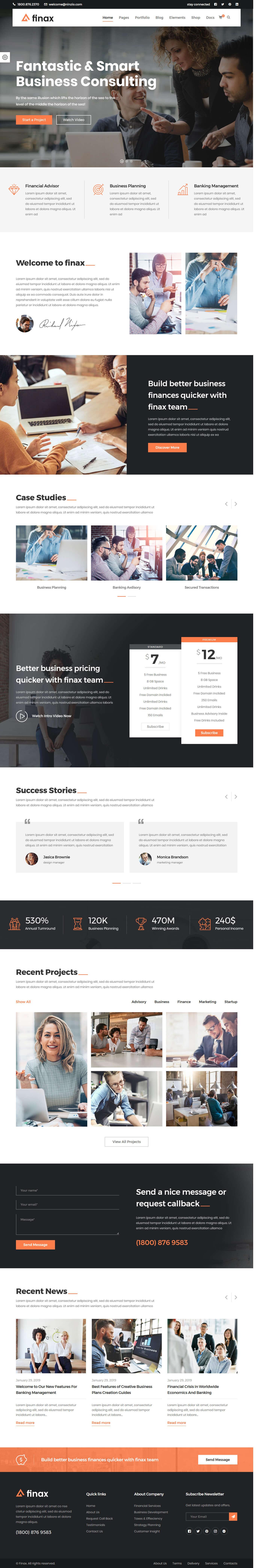 finax best premium drag drop wordpress theme - 10+ Best Premium Drag and Drop WordPress Themes