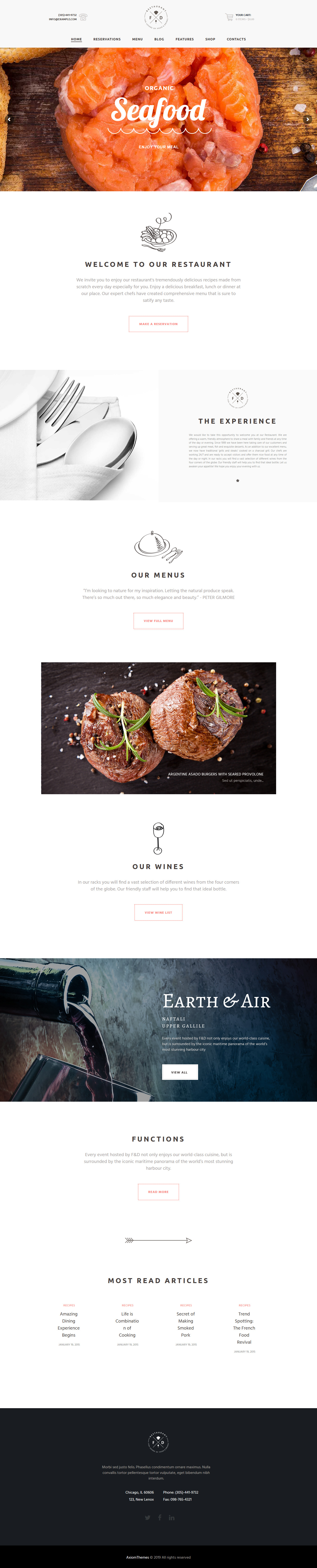 Food & Drink - Best Premium Bar and Pub WordPress Theme