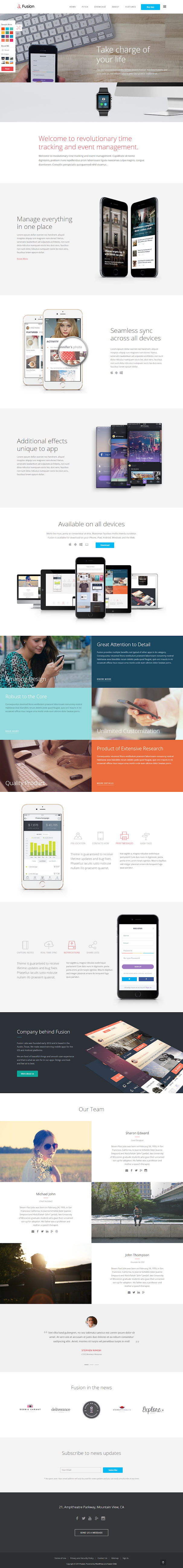 fusion best premium mobile app wordpress theme - 10+ Best Premium Mobile App WordPress Themes