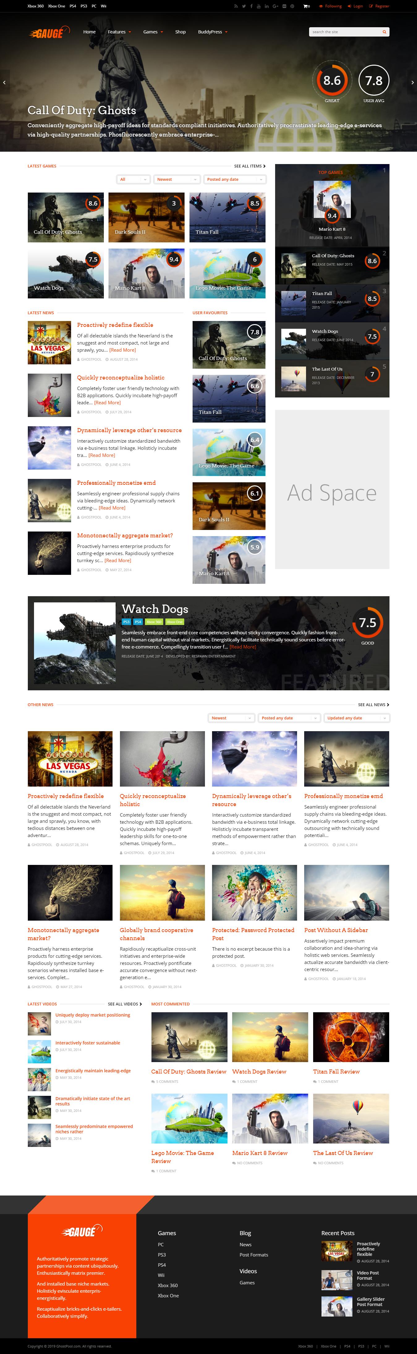 gauge best premium review wordpress theme - 10+ Best Premium Review WordPress Themes