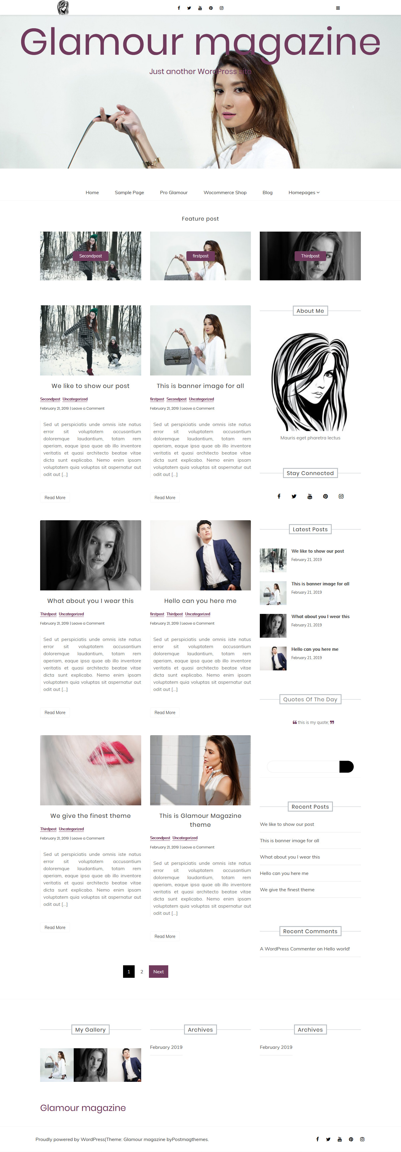 glamour magazine best free review wordpress theme - 10+ Best Free Review WordPress Themes