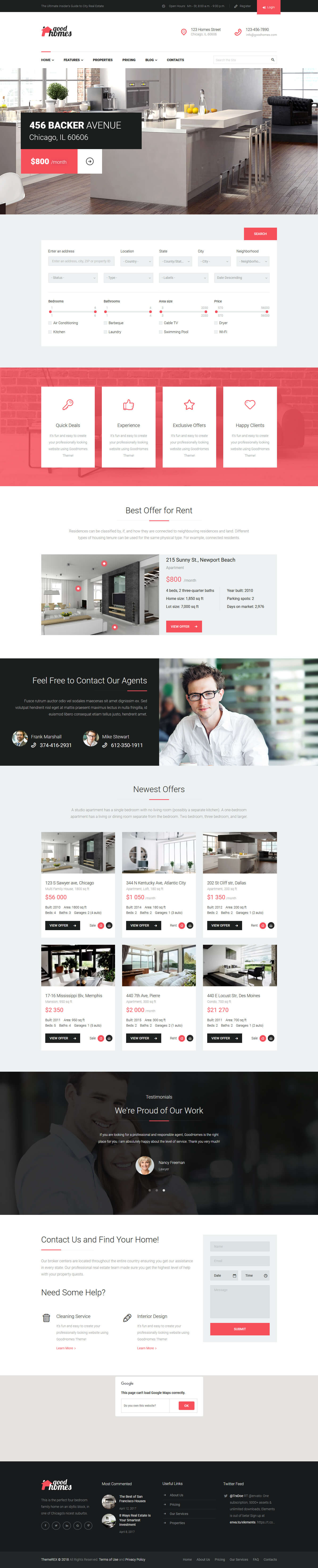 Good Homes - Best Premium Home Rental and Property WordPress Theme