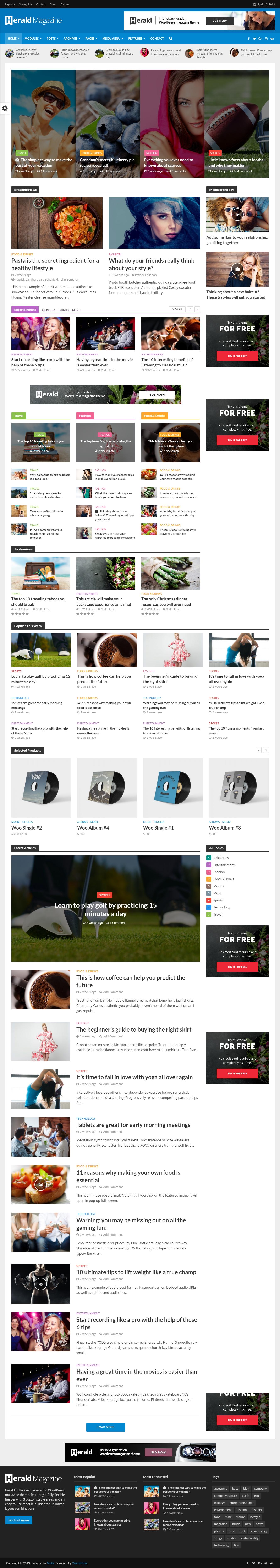 herald best premium review wordpress theme - 10+ Best Premium Review WordPress Themes
