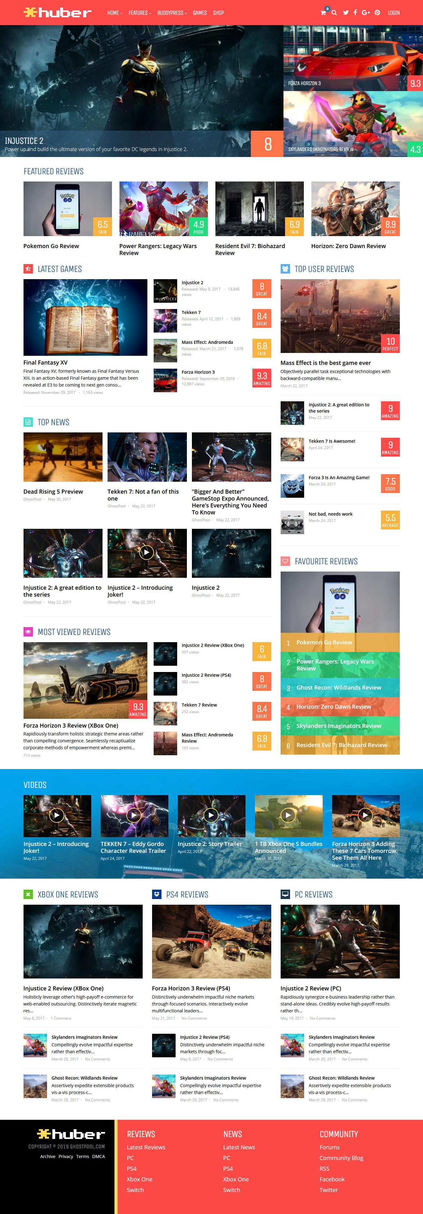 huber best premium review wordpress theme - 10+ Best Premium Review WordPress Themes