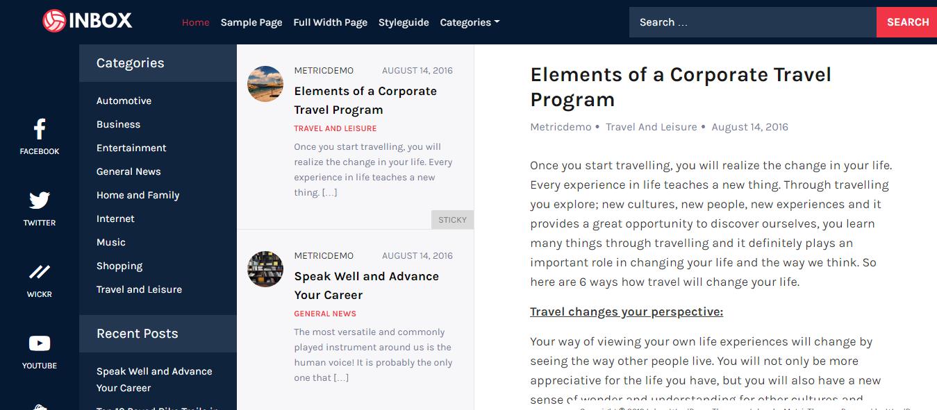 inbox best free mobile app wordpress theme - 10+ Best Free Mobile App WordPress Themes