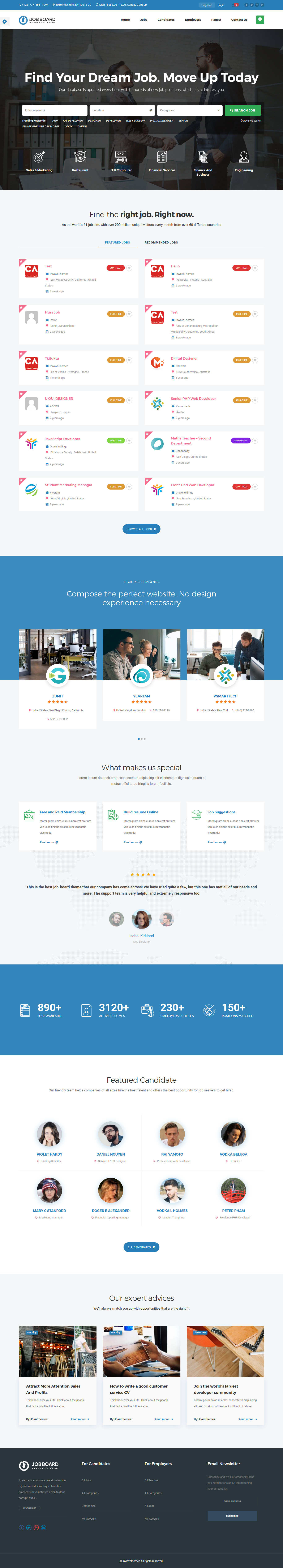 injob best premium job board wordpress theme - 10+ Best Premium Job Board WordPress Themes