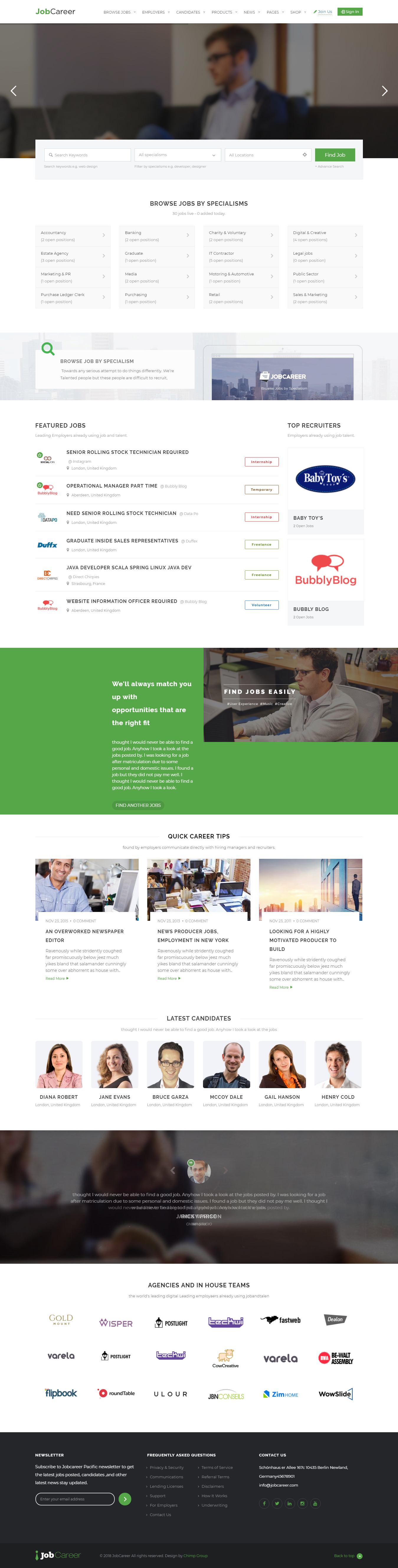 jobcareer best premium job board wordpress theme - 10+ Best Premium Job Board WordPress Themes