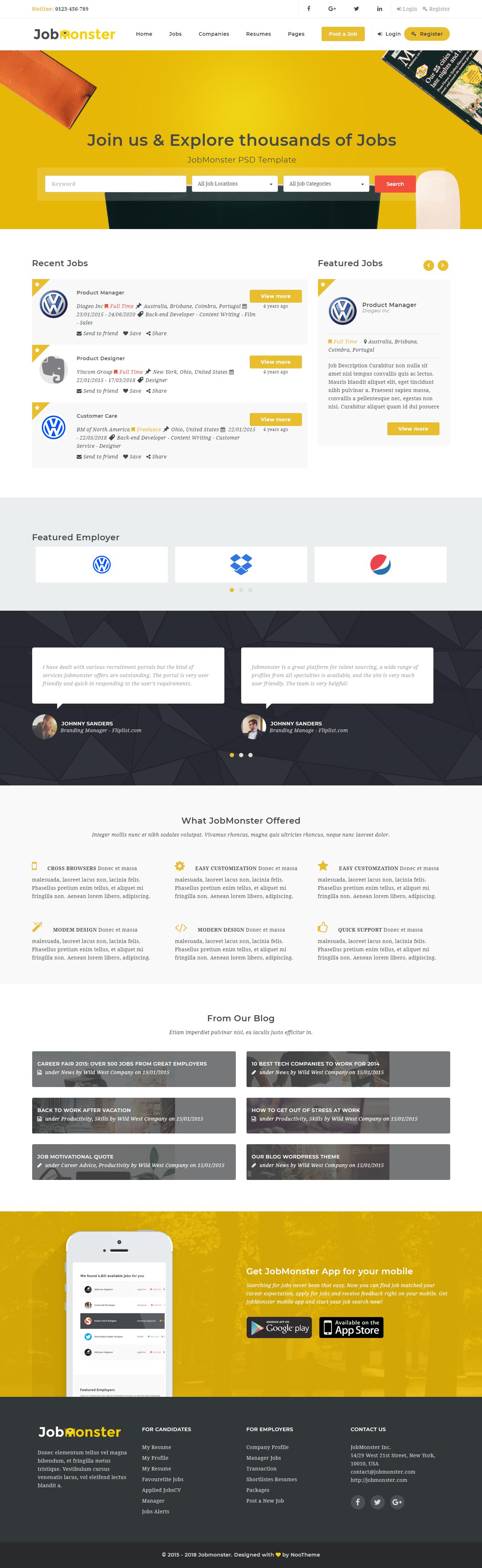 jobmonster best premium job board wordpress theme - 10+ Best Premium Job Board WordPress Themes