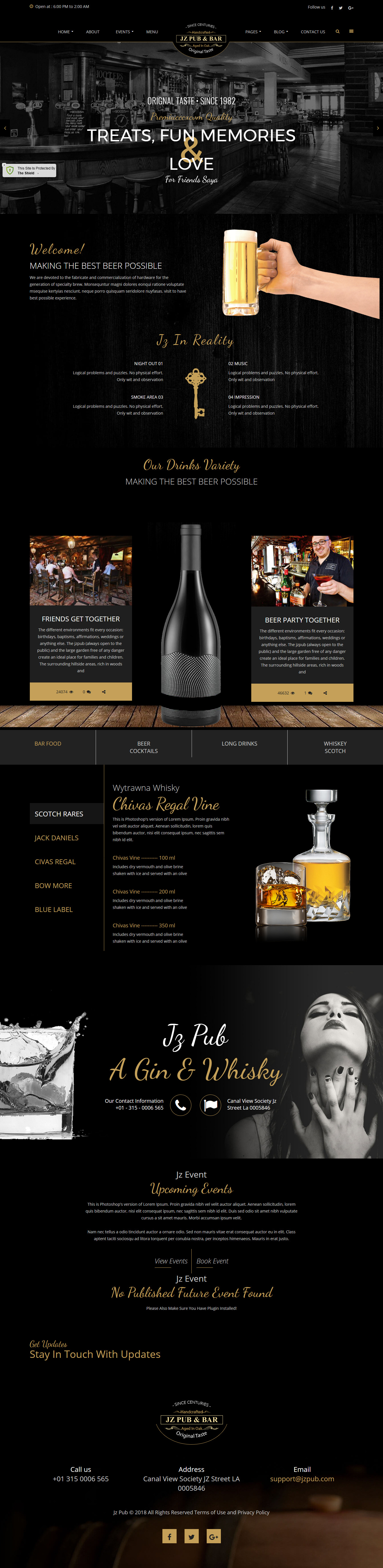 jz pub bar best premium bar pub wordpress theme - 10+ Best Premium Bar and Pub WordPress Themes