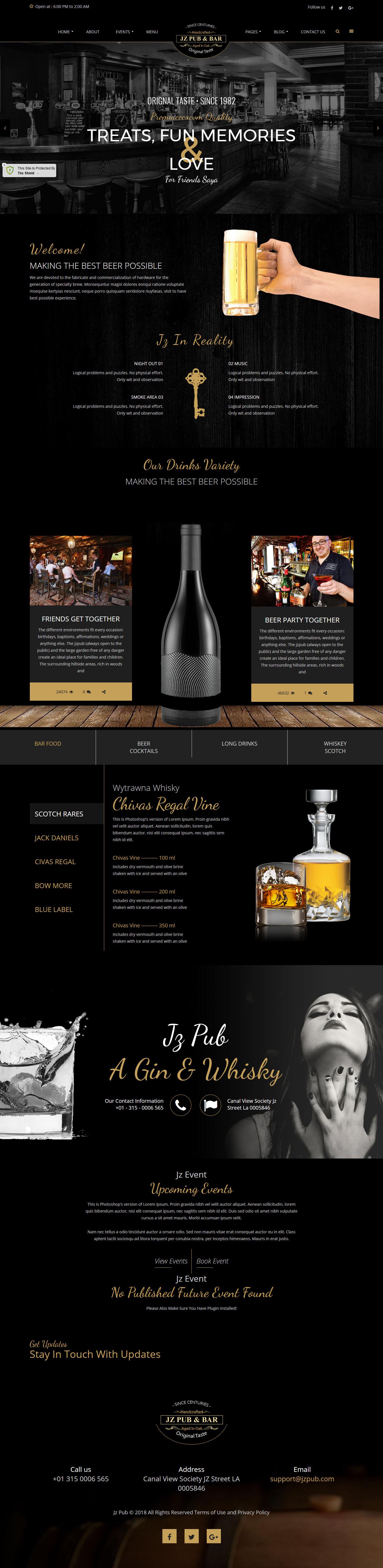Jz Pub & Bar - Best Premium Bar and Pub WordPress Theme