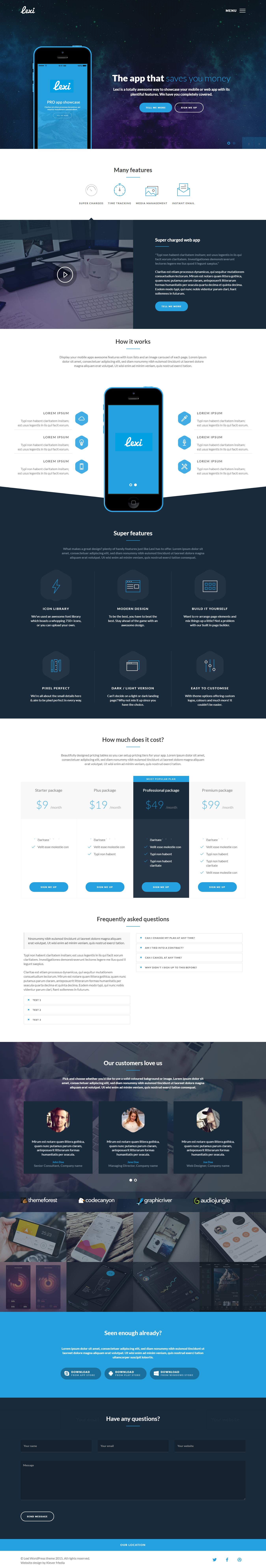 lexi best premium mobile app wordpress theme - 10+ Best Premium Mobile App WordPress Themes