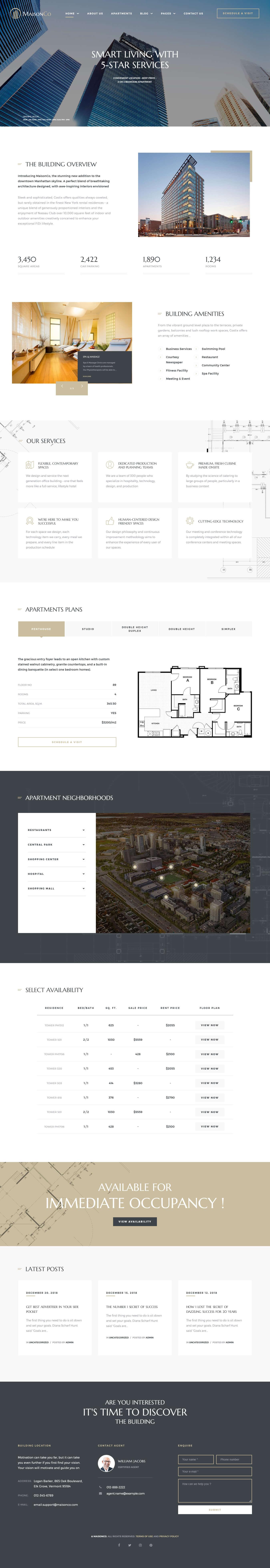 maisonco best premium home rental property wordpress theme - 10+ Best Premium Home Rental and Property WordPress Themes