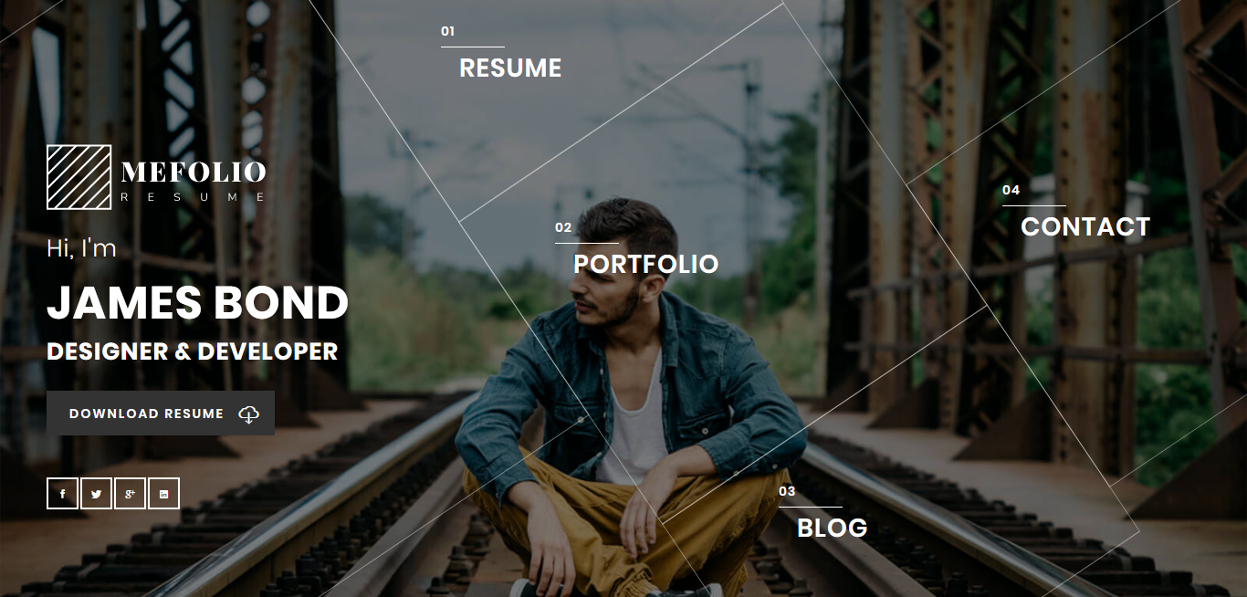 mefolio best premium resume wordpress theme - 10+ Best Premium Resume WordPress Themes