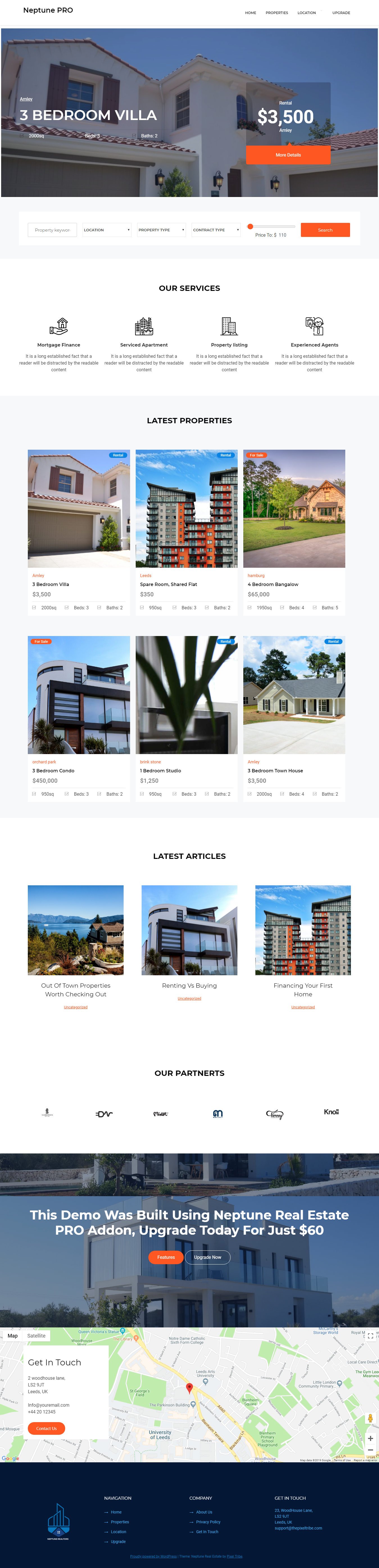 neptune best free home rental property wordpress theme - 10+ Best Free Home Rental and Property WordPress Themes