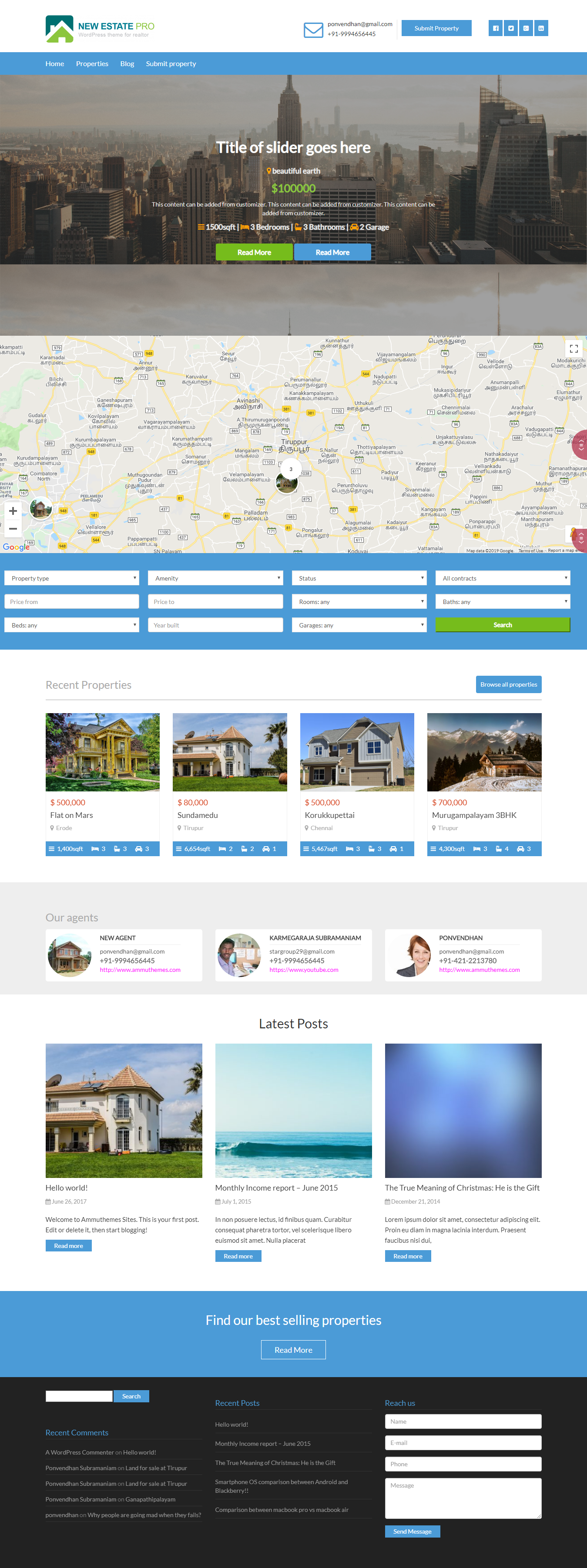 new estate best free home rental property wordpress theme - 10+ Best Free Home Rental and Property WordPress Themes