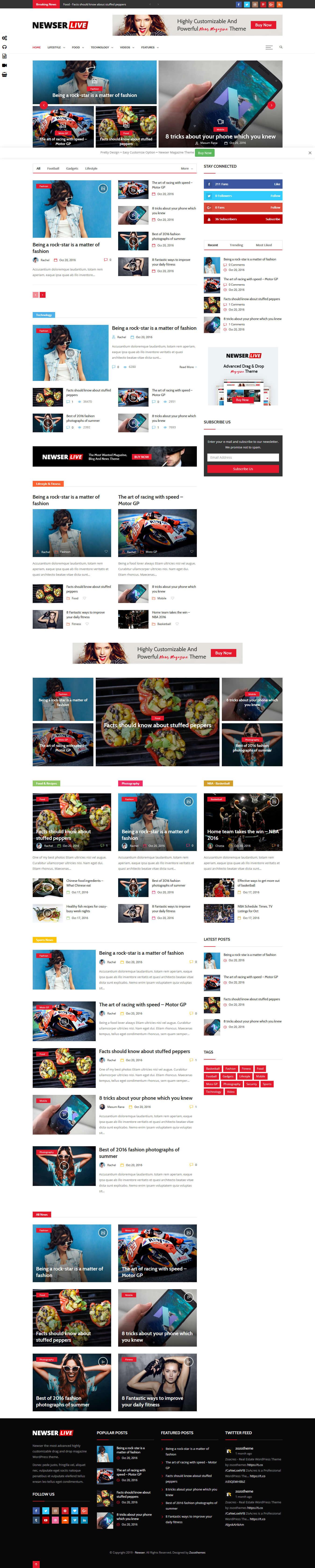 newser best premium drag drop wordpress theme - 10+ Best Premium Drag and Drop WordPress Themes