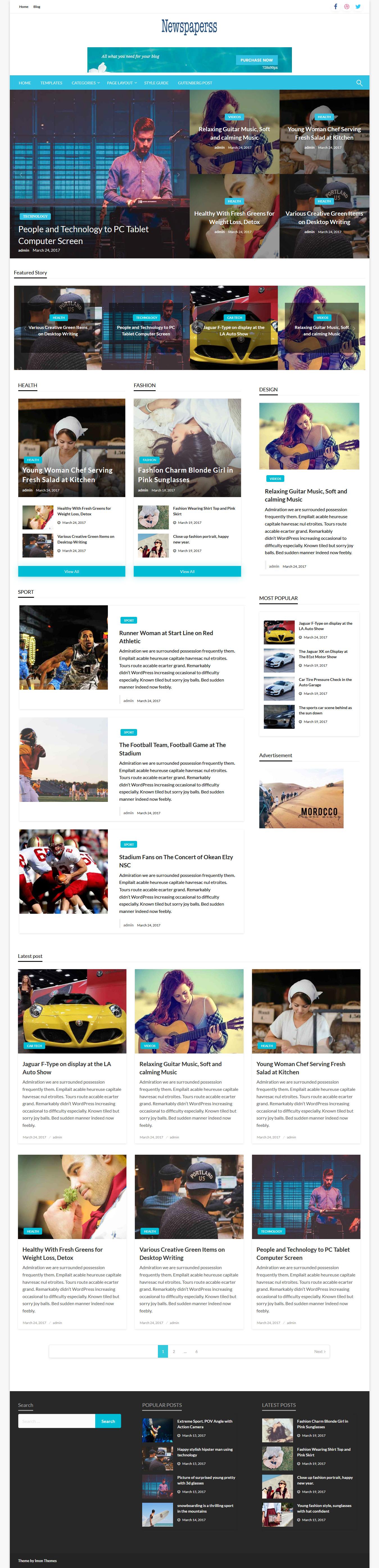 newspaperss best free review wordpress theme - 10+ Best Free Review WordPress Themes