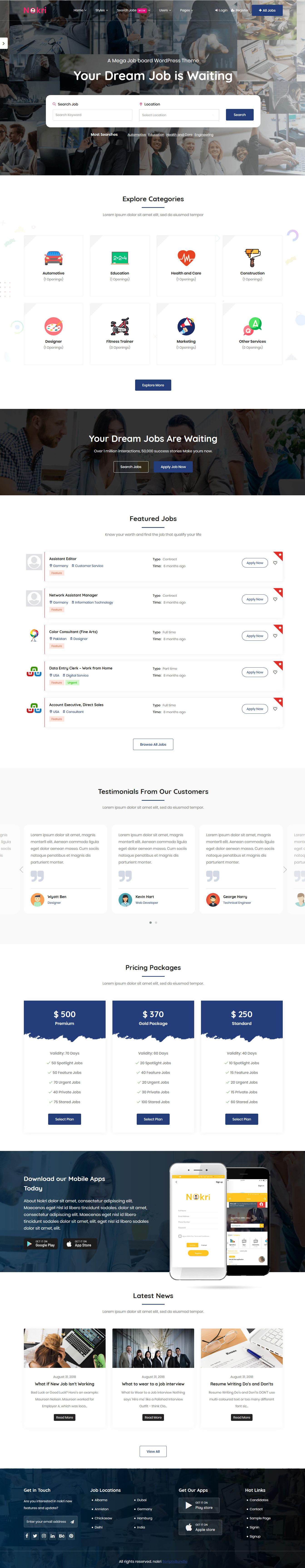 Nokri - Best Premium Job Board WordPress Theme