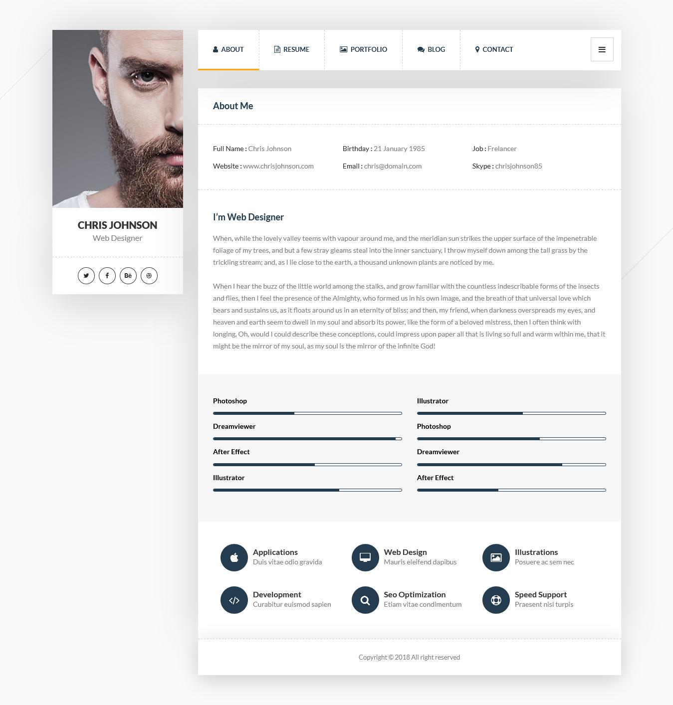 picard best premium resume wordpress theme - 10+ Best Premium Resume WordPress Themes