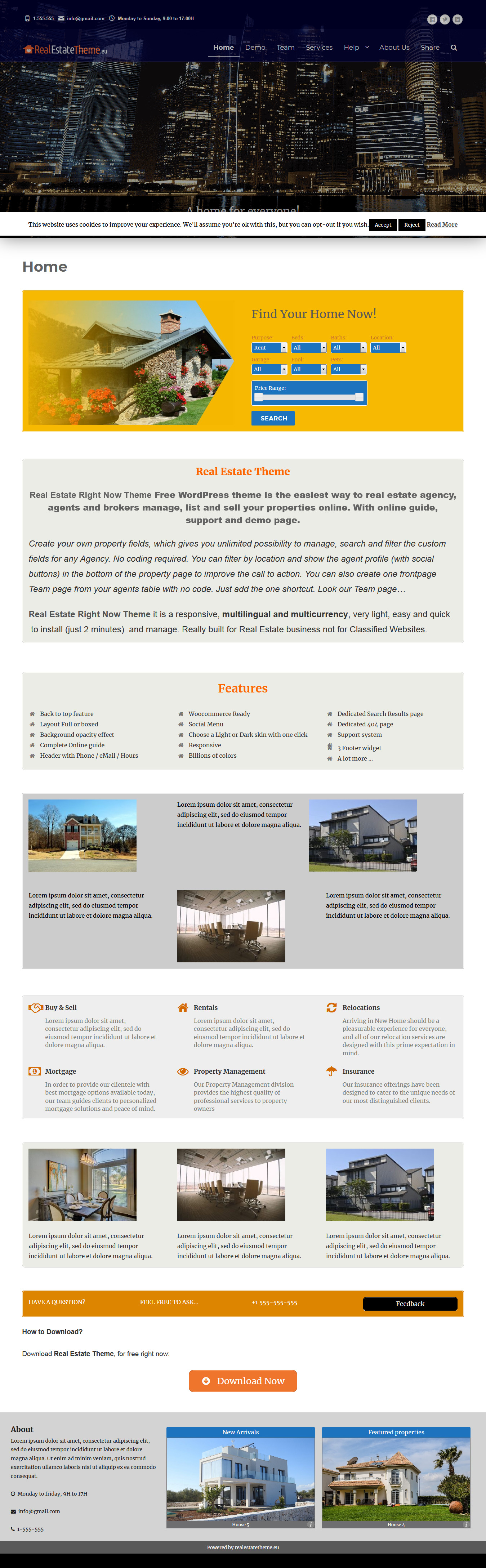 real estate right now best free home rental property wordpress theme - 10+ Best Free Home Rental and Property WordPress Themes