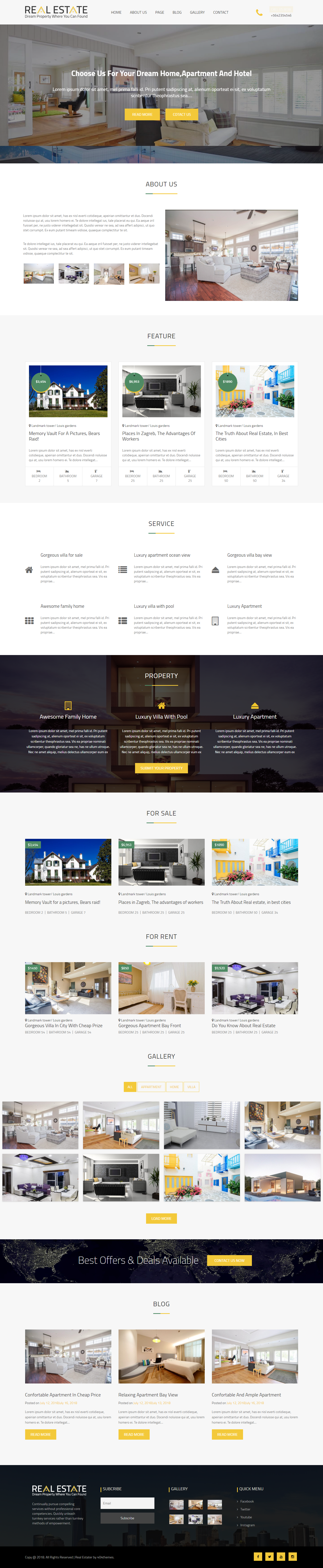 real estater best free home rental property wordpress theme - 10+ Best Free Home Rental and Property WordPress Themes