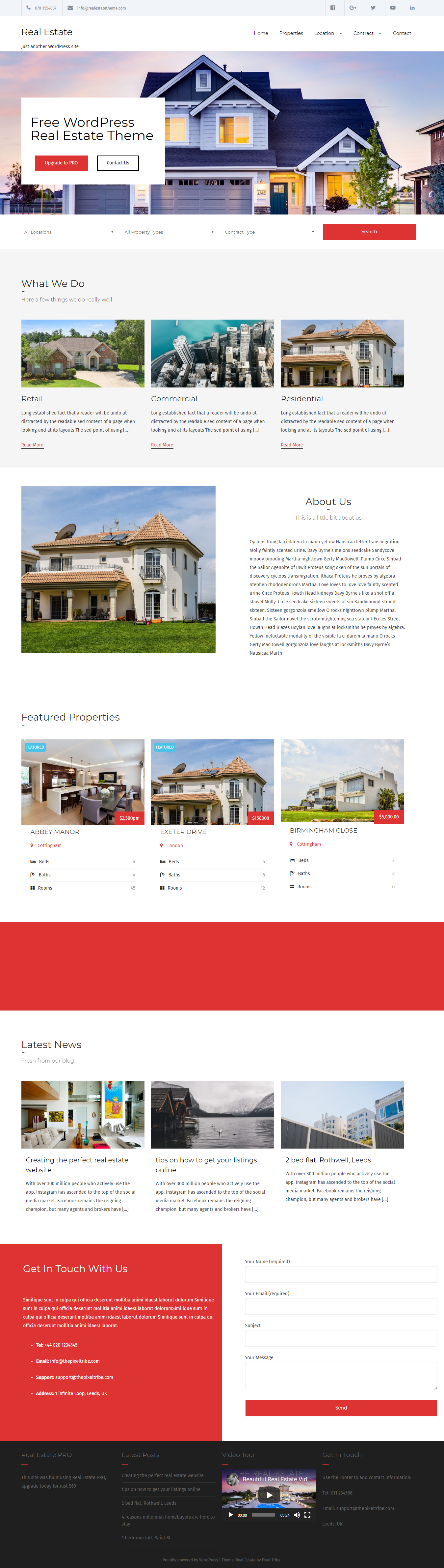 realestate lite best free home rental property wordpress theme - 10+ Best Free Home Rental and Property WordPress Themes