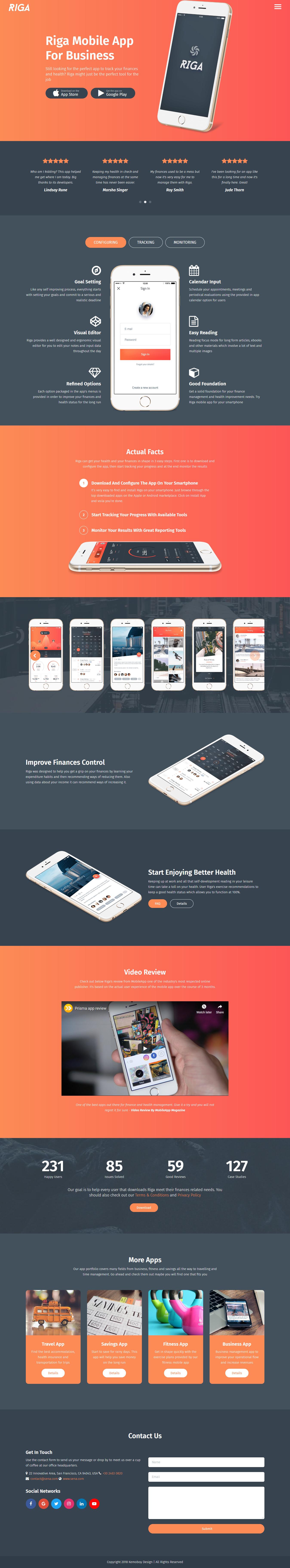 riga best premium mobile app wordpress theme - 10+ Best Premium Mobile App WordPress Themes