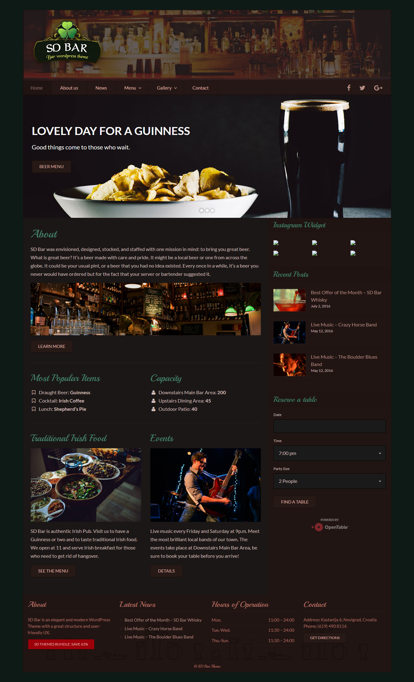 sd bar best premium bar pub wordpress theme - 10+ Best Premium Bar and Pub WordPress Themes