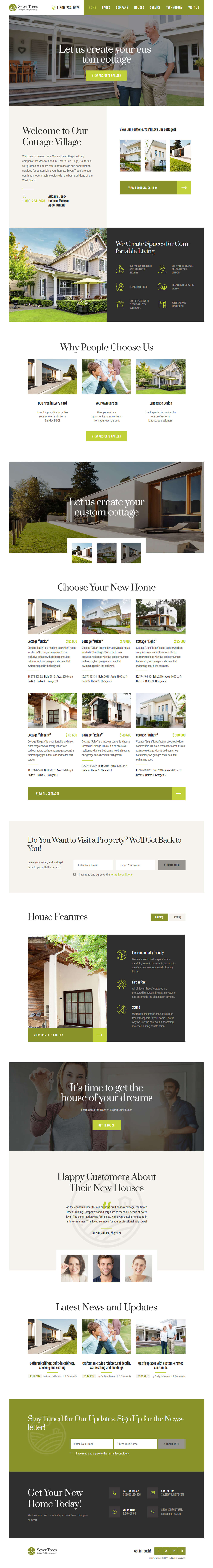 SevenTrees - Best Premium Home Rental and Property WordPress Theme