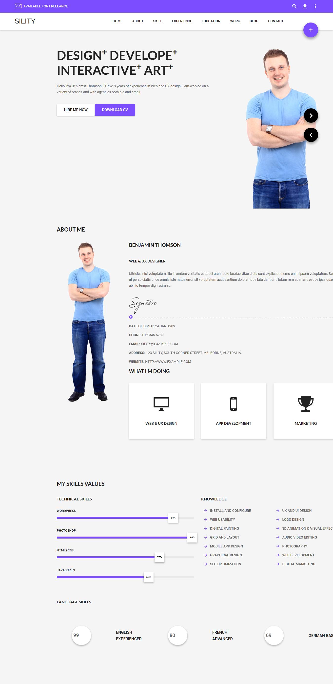 sility best premium resume wordpress theme - 10+ Best Premium Resume WordPress Themes