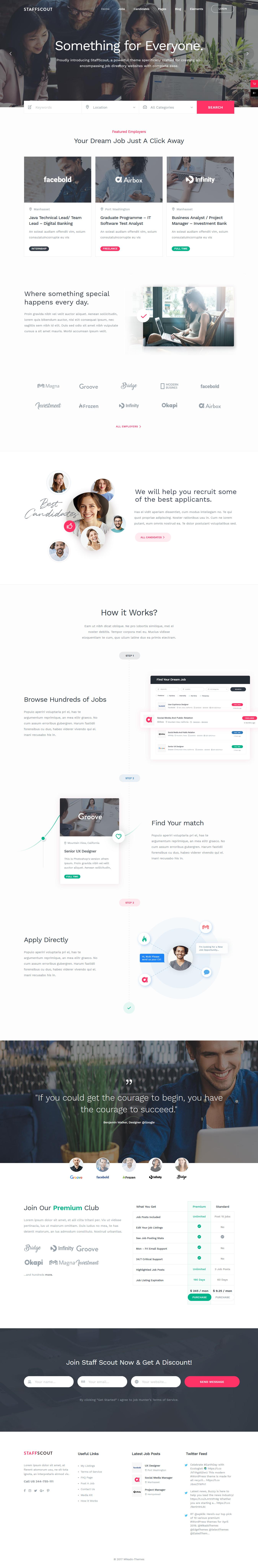 staffscout best premium job board wordpress theme - 10+ Best Premium Job Board WordPress Themes