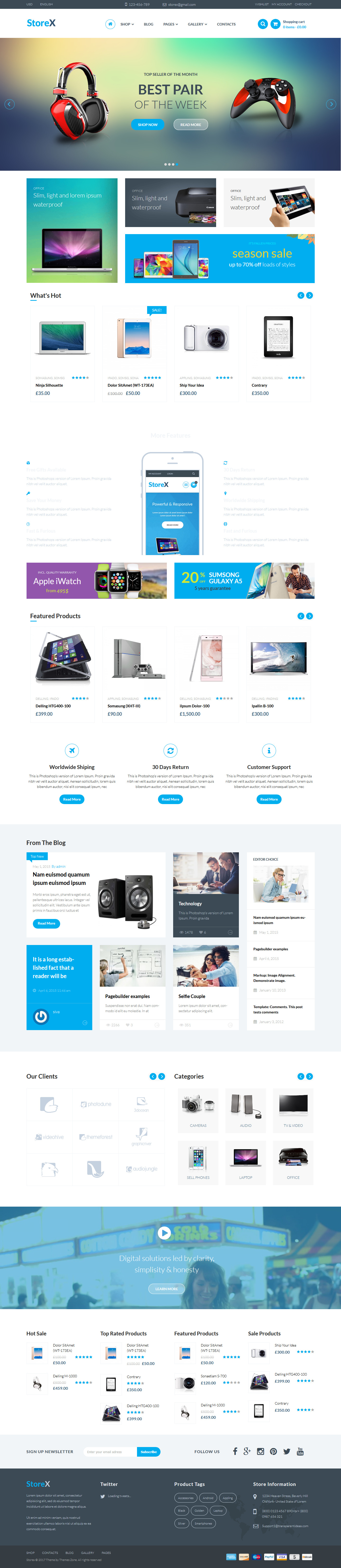 StoreX - Best Premium Drag and Drop WordPress Theme