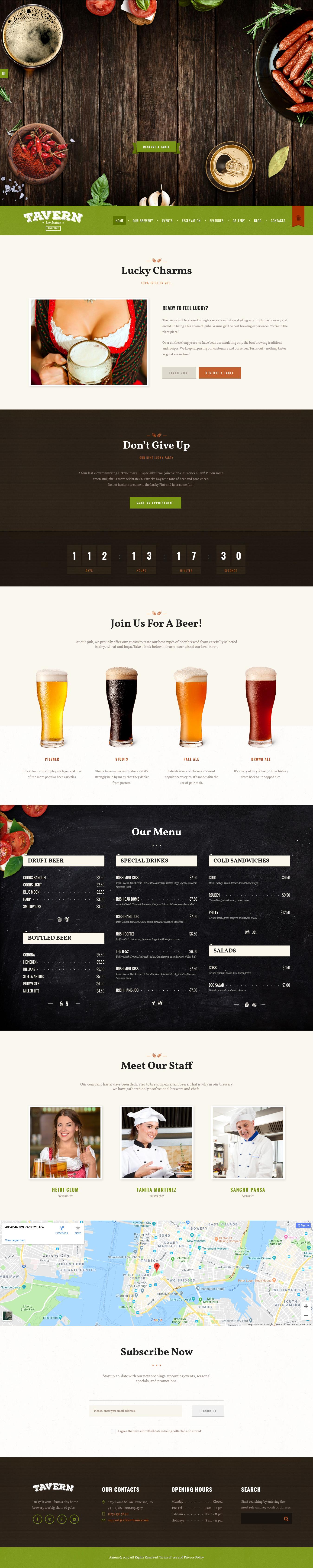tavern best premium bar pub wordpress theme - 10+ Best Premium Bar and Pub WordPress Themes